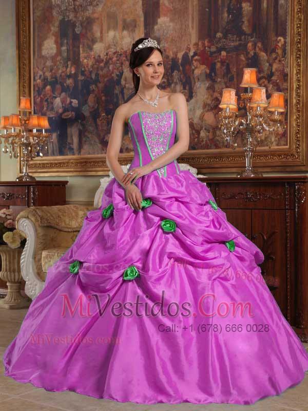 Lavanda Vestido De Fiesta Estrapless Hasta El Suelo Tafetán Bordado ...