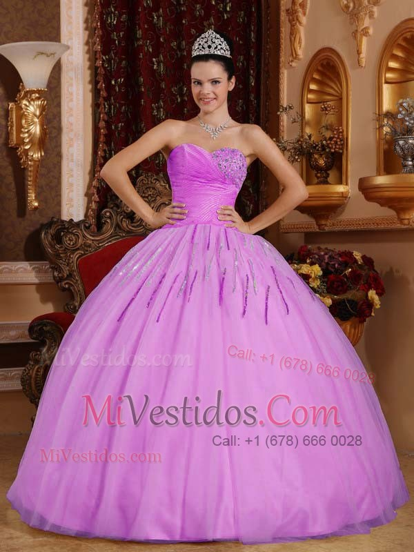 Lavanda Vestido De Fiesta Dulceheart Hasta El Suelo Tul Bordado ...