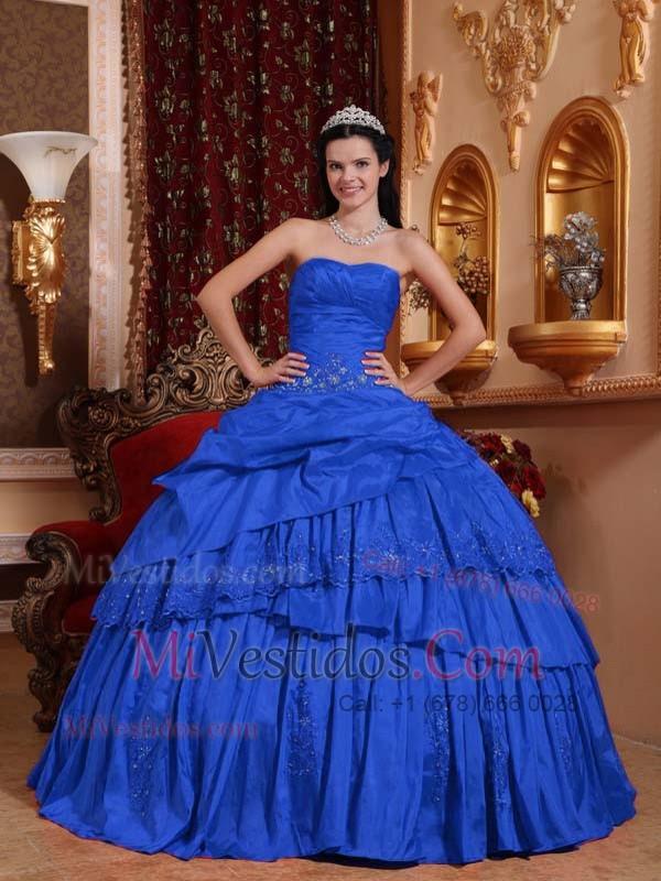 7aa0a97e9 Azul Oscuro Vestido De Fiesta Dulceheart Hasta El Suelo Tafetán Bordado Y  Vestido De Quinceañera. triumph