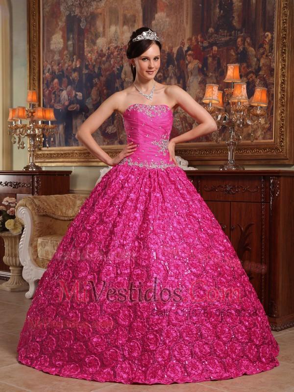 Caliente Rosa Vestido De Fiesta Estrapless Hasta El Suelo Tejido Con ...