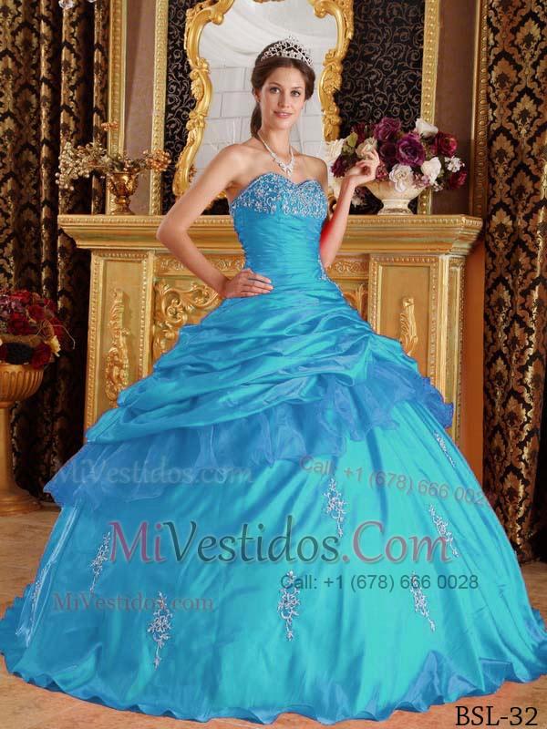 506ced6cd Azul Aqua Vestido De Fiesta Dulceheart Hasta El Suelo Tafetán Bordado  Vestido De Quinceañera. triumph
