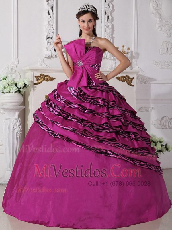 Vestido De Fiesta Estrapless Hasta El Suelo Zebra Bordado Vestido De ...