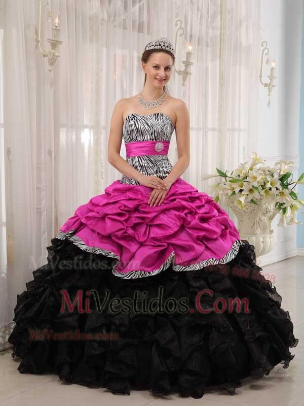 Para Estrenar Caliente Rosa Y Negro Vestido De Fiesta Dulceheart ...