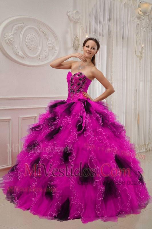 Lujoso Negro Y Rosa Vestidos De Fiesta Composición - Ideas de ...