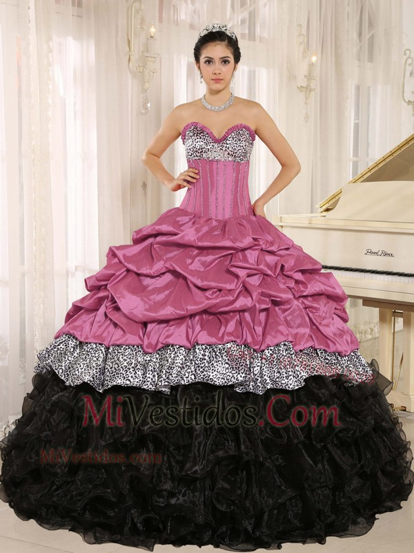 rosa con negro | new quinceanera dresses