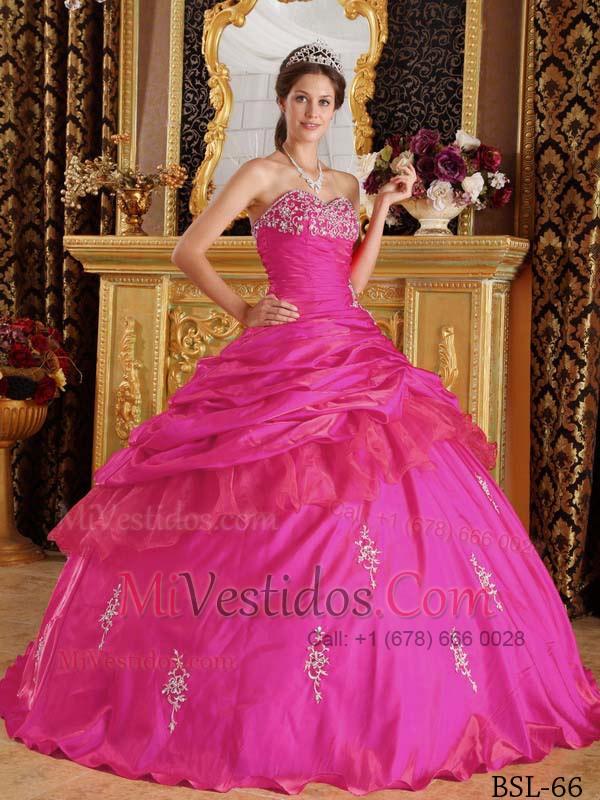Caliente Rosa Vestido De Fiesta Dulceheart Hasta El Suelo Tafetán ...