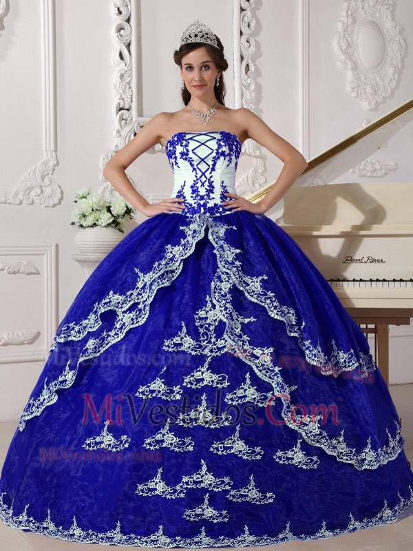 blanco y azul | new quinceanera dresses