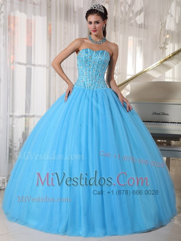 Vestidos de fiesta color azul cielo