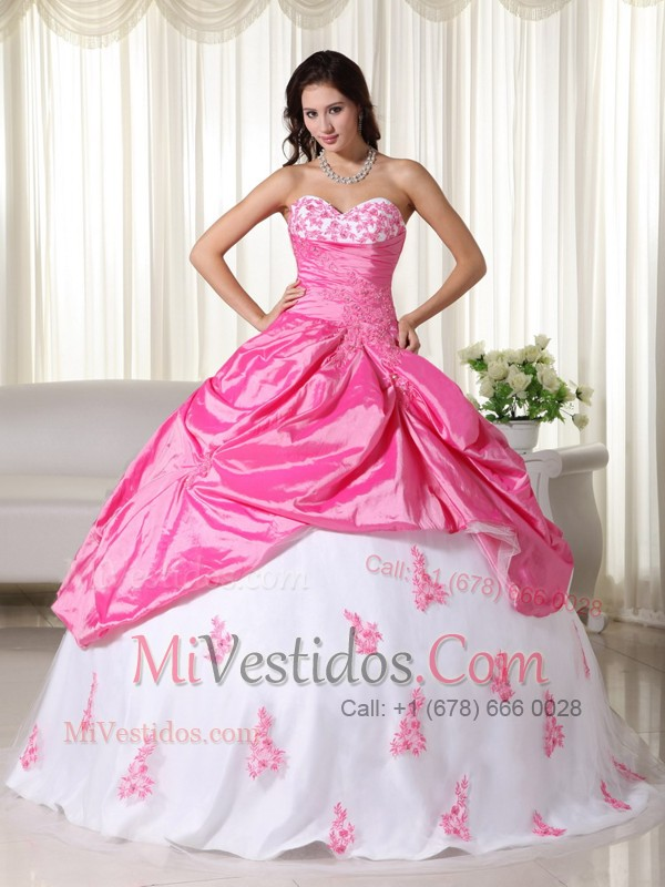 rosa y blanco | new quinceanera dresses