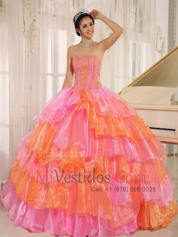 vestido de quince color naranja | new quinceanera dresses