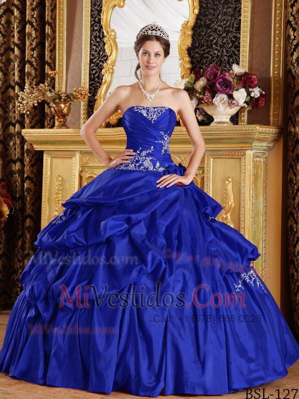Único Vestidos De Dama Azul Real Ideas Ornamento Elaboración ...