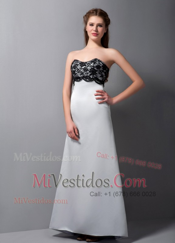 Black Lace Gray Empire Maxi Dress Modified A-line