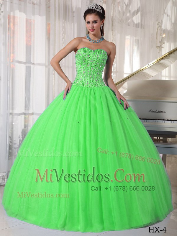 Vestidos de quinceanera color verde