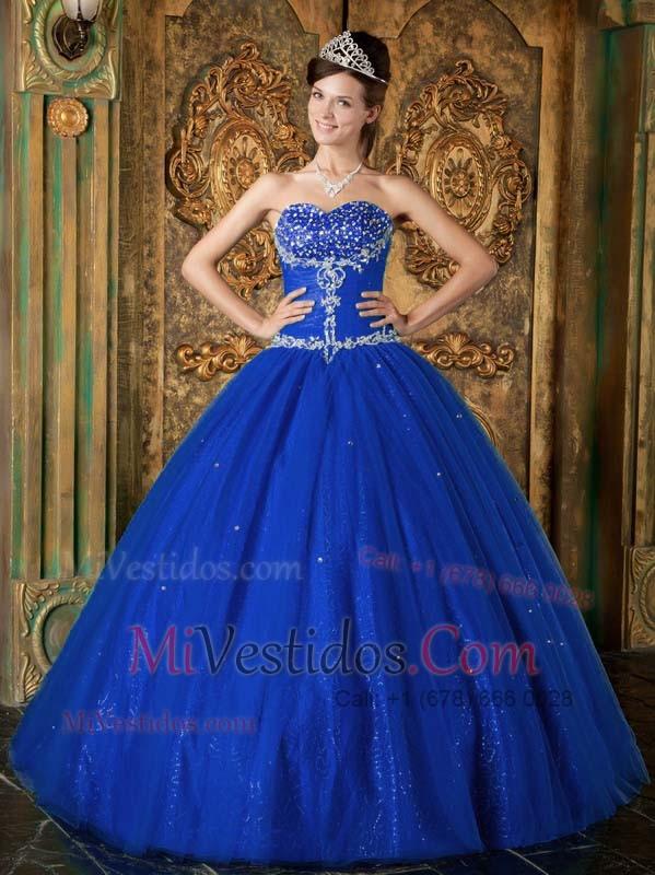 7947aa92a Azul Oscuro Corte A   Princesa Dulceheart Hasta El Suelo Bordado Tul ...