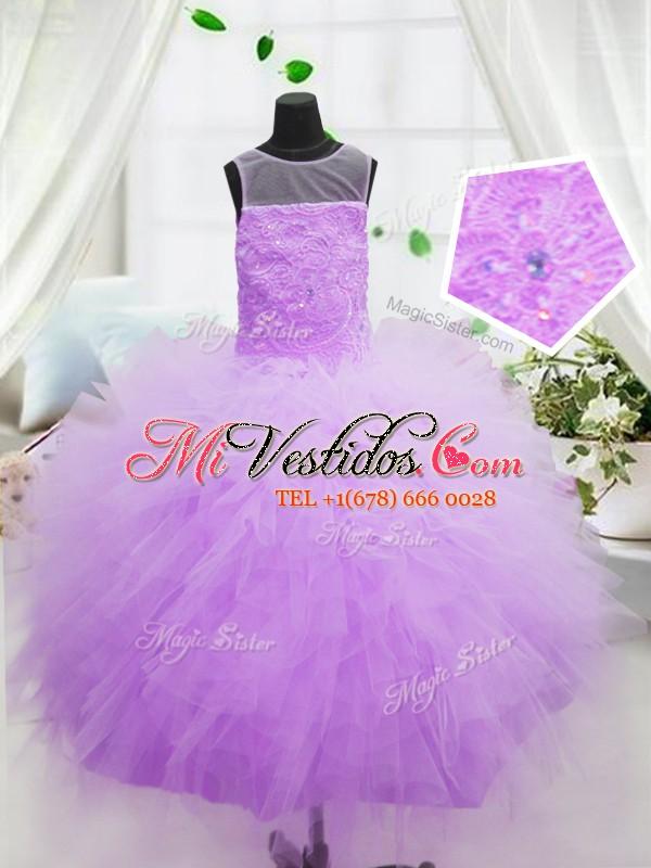 Cucharada de los vestidos de bola de color rosa caliente volantes ...