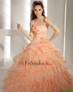 303cb3ec7d €326.78 €162.77  2015 nuevos del estilo Vestidos de quinceañera con Hand  Made Flores y capas rizadas
