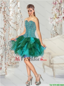 Unique rebordear multicolores vestidos Mini Prom
