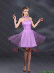 29a6785198 €160.25 €80.34  Hermosas lila A vestidos de dama de honor con la línea  Appliques Halter