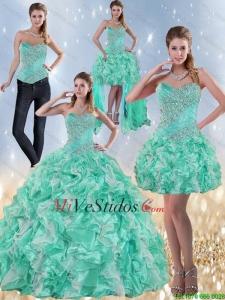 Vestidos de salida de sexto color verde agua