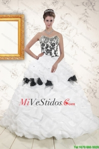 Hot Blanco Dulce 15 Vestidos con pick ups y Hand Made Flores
