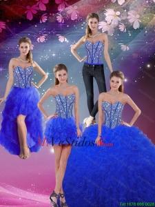 \u20ac912.45 \u20ac386.64 Dinámica rebordeado amor y Volantes azul Real desmontable Quinceanera Vestidos