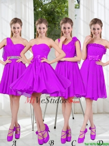 a766fc891 Bastante amor que rebordea vestidos cortos Dama en púrpura