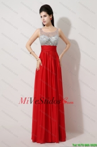 Lado de moda Zipper Red Dama Vestidos con Scoop