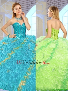Exclusivo rebordear Multi Color Quinceañera Vestidos para 2016