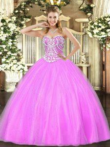 3e416d8dae €334.68 €204.57  Delicado tul de lila con cordones 15 vestido de quinceañera  sin mangas