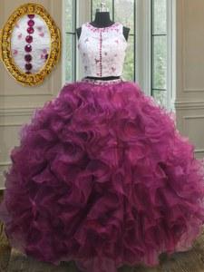 c67ebbda1 €414.58 €245.15  De moda de dos piezas de organza cremallera cucharada sin  mangas longitud del piso vestido de