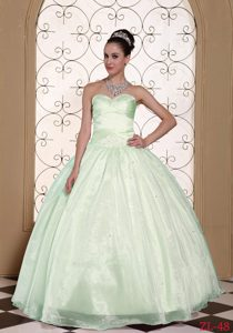 Hermoso 2015 Vestido De Quinceañera In California Dulceheart Beaded Decorate Bust