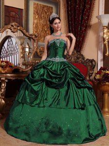 Vestidos de 15 verde oscuro